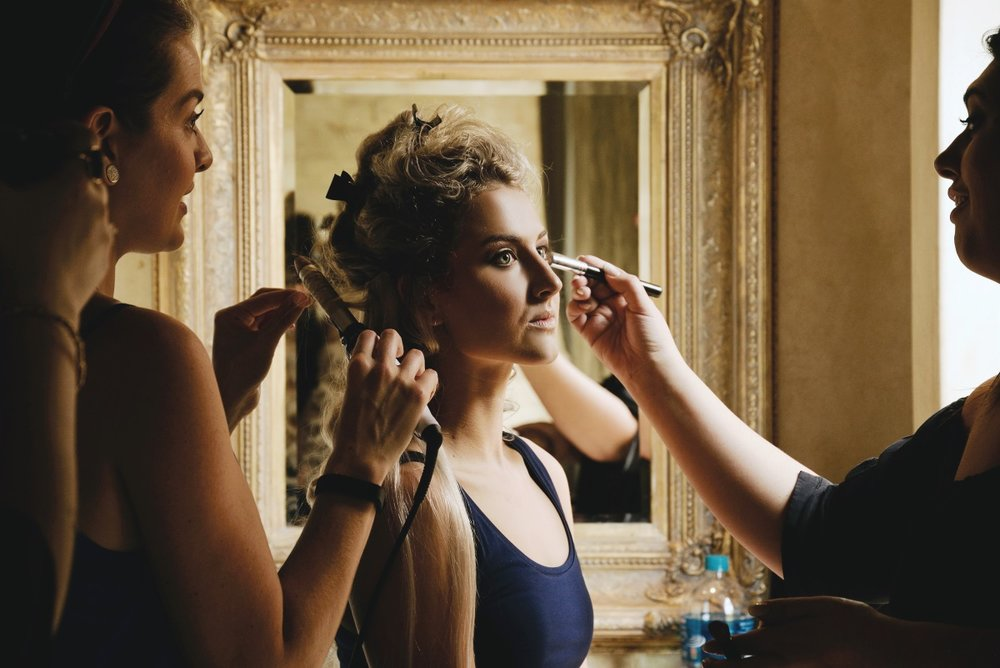 Bridal Makeup and Hair Prep | Astra Bridal | Maggie Sottero | Avianto Estate | Little White Ribbon Photography