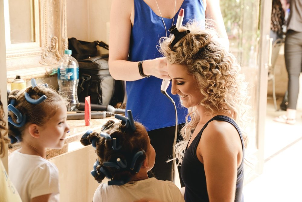 Bridal Hair Prep | Astra Bridal | Maggie Sottero | Avianto Estate | Little White Ribbon Photography