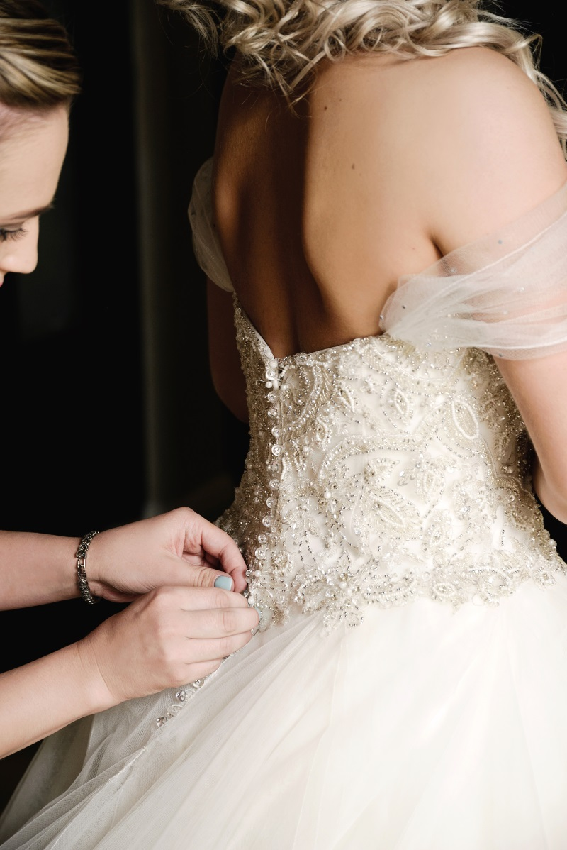 Beaded Bodice Wedding Dress | Astra Bridal | Maggie Sottero | Avianto Estate | Little White Ribbon Photography