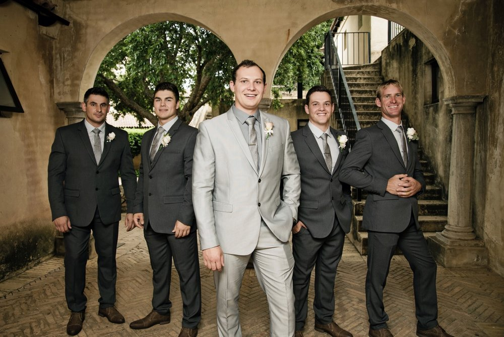 Groomsmen | Silver and Grey Suits | Astra Bridal | Maggie Sottero | Avianto Estate | Little White Ribbon Photography