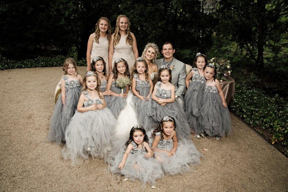 Flower Girls Grey | Astra Bridal | Maggie Sottero | Avianto Estate | Little White Ribbon Photography