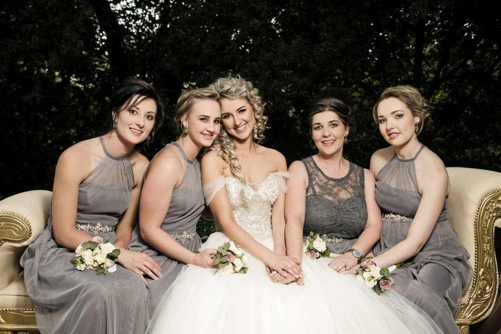 Grey Bridesmaids | Astra Bridal | Maggie Sottero | Avianto Estate | Little White Ribbon Photography