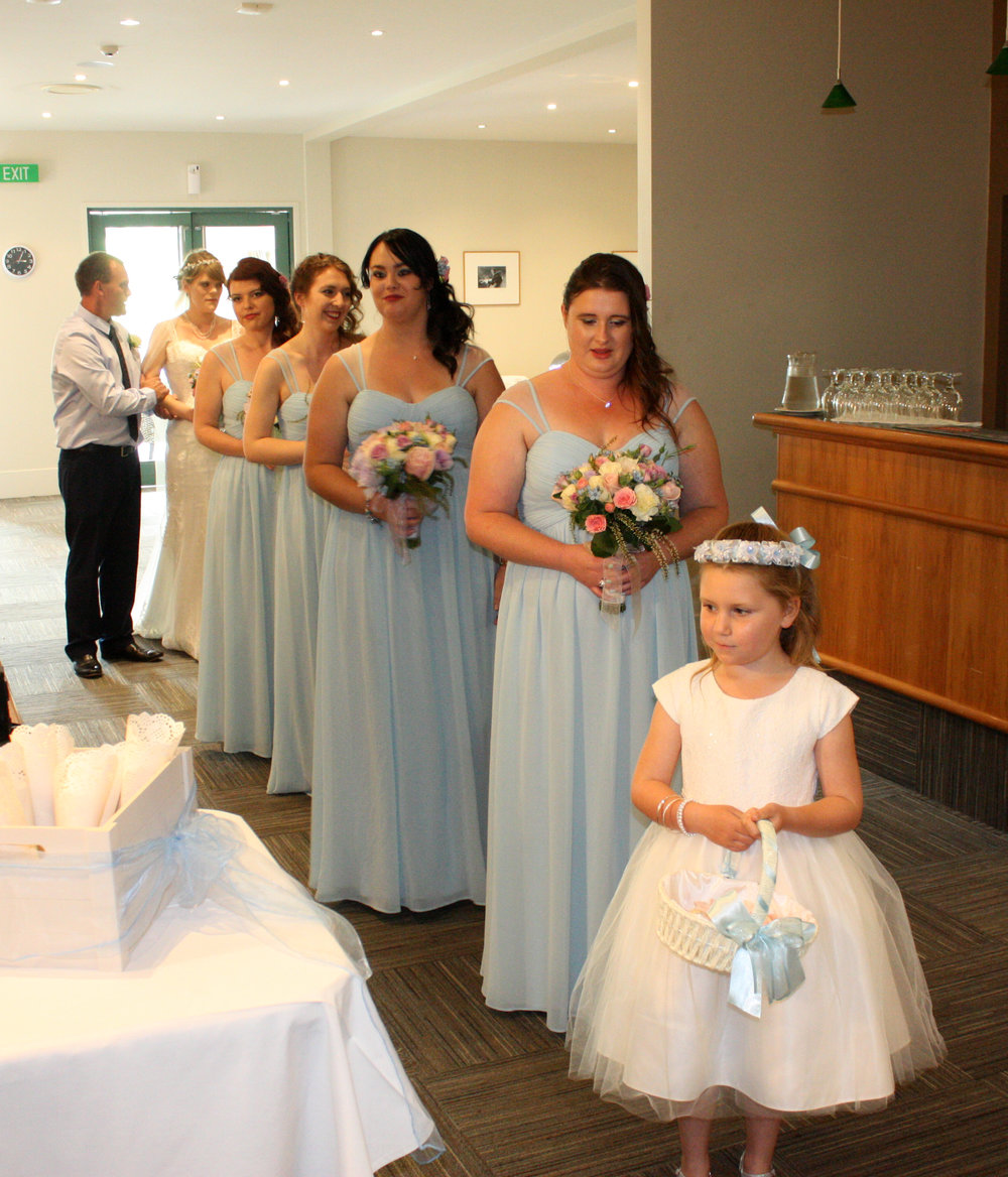 Light Blue Bridesmaids | Astra Bridal | Christina Rossi | Hamilton Airport and Conference Centre