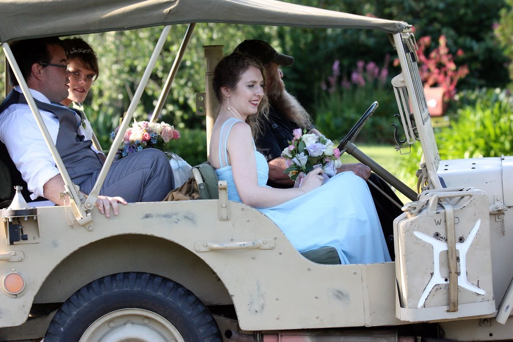 Bridal Party Golf Cart | Astra Bridal | Christina Rossi | Hamilton Airport and Conference Centre