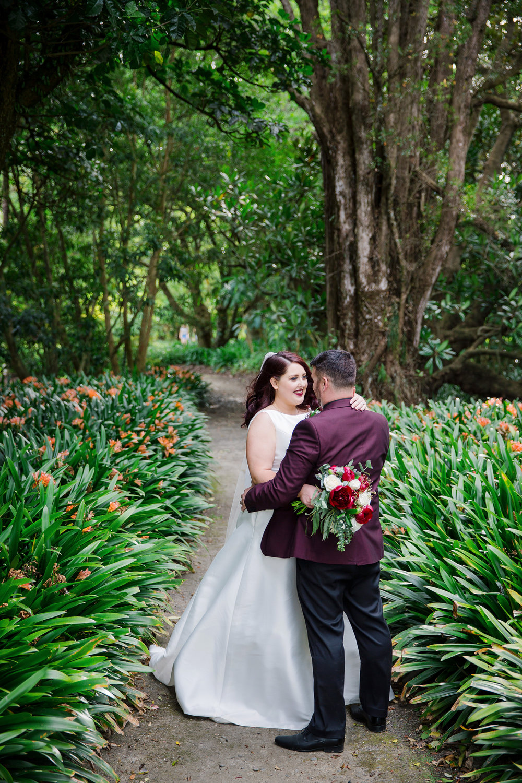 Bride & Groom share a moment | Astra Bride Lauren