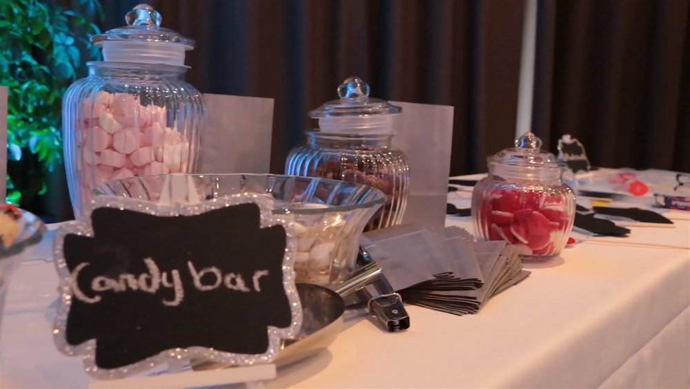 Wedding Reception Candy Bar | Astra Bridal | Christina Rossi | Hamilton Airport and Conference Centre