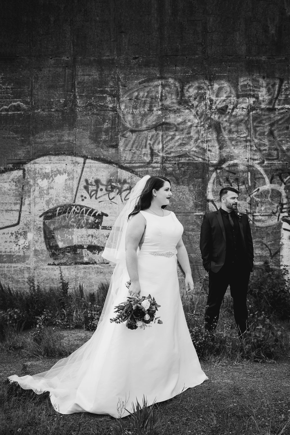 Bride & Groom out & about | Astra Bride Lauren