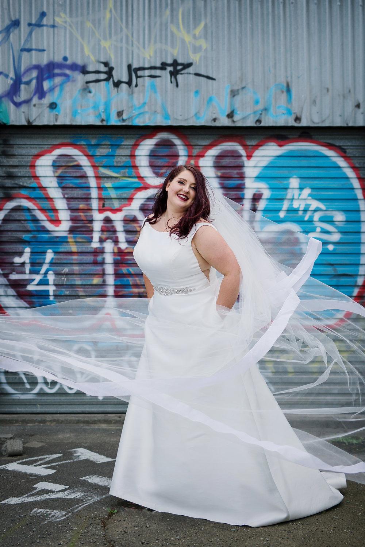 Bridal Veil & Simple Wedding Dress | Astra Bride Lauren