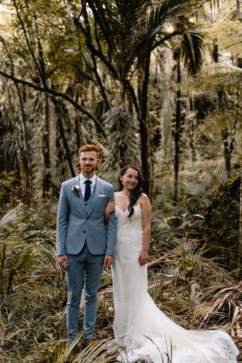 """- 'Lucky' can't even begin to describe how incredibly blessed this bride was for her wedding day!In conjunction with NZ Bride and Groom magazine we give away a wedding dress to one lucky bride each year. And Meaghan was our 2017 winner.Meaghan chose the stunning Maggie Sottero 'Nola' gown which was absolute perfection on small frame.""""When I won my gown from a Bride and Groom Magazine competition, there were definitely happy tears! At my appointment, after narrowing down the hundreds of beautiful dresses at Astra Bridal Auckland salon, I was left with a top three. It was such a hard decision that I had to come back another day so I could sleep on it. Yet in the end I couldn't have been happier with the Maggie Sottero dress, in the style Nola.""""But when we asked Meaghan more about the different vendors at her wedding, she gave us an amazing list of very talented friends and family who took care of each part!Her hair, done by her good friend and hair dresser Sherrie Moleta. Her makeup, done by her sister-in-law - the makeup artist behind Beau Monde Beauty in Pukekohe. The bouquets and buttonholes were created by her work colleagues and her cake was also created by her work colleague Georgia Groom of Hey Babycakes NZ. Not to mention the wedding stationary being completed by her talented husband.""""I've realised that every one of these questions I've answered with one friend or another. We truly utilised all our wonderful friends and family members talents to bring this wedding together. People are always so willing to help, that's the beauty of weddings, they bring people together.""""The talented photographers Stephan and Nakita captured this beautiful day at Bridgewater Estate in Kaukapakapa, Auckland and created beautiful photos that Meaghan and Richard will be able to treasure for a lifetime!"""