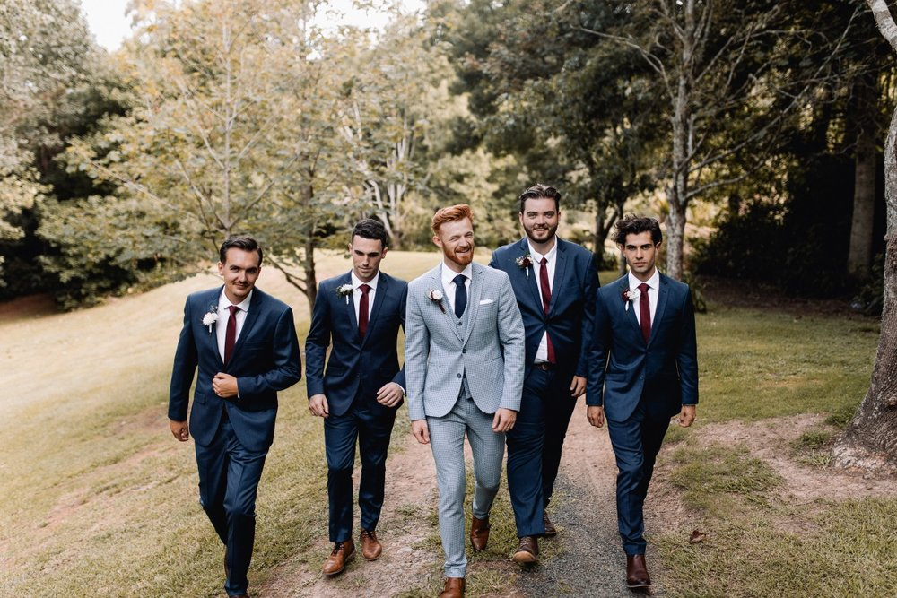 Navy Suits | Maggie Sottero - Nola | Astra Bridal | Bride and Groom Winner | Stephan and Nakita Photography