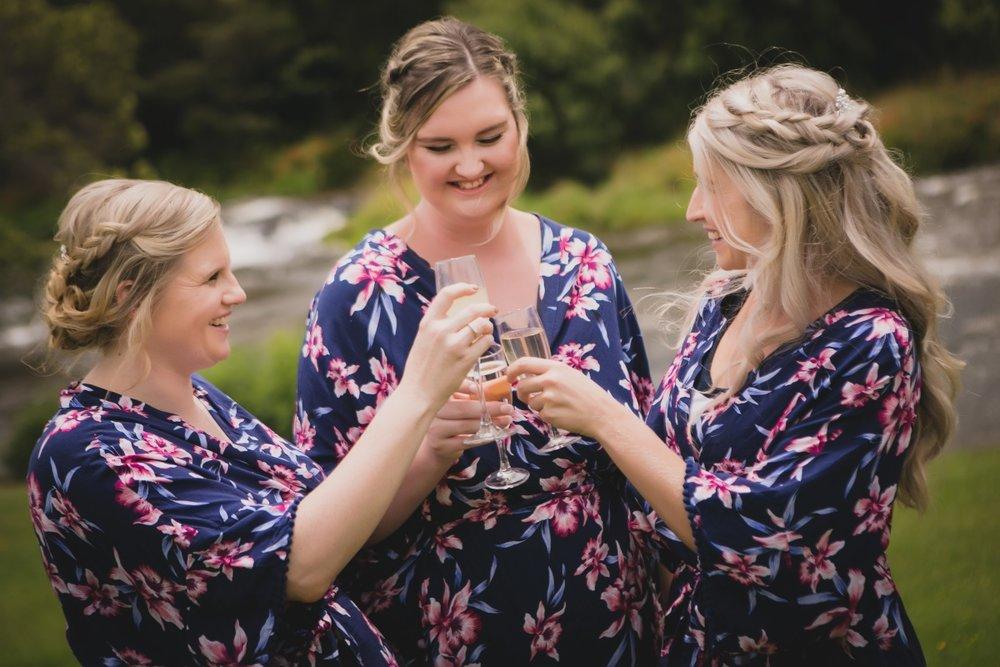 Floral Wedding Prep Robes | Bonny Bridal - 630 | Astra Bridal | Puketona Farms, Puketona, Bay of Islands| GDR Photography