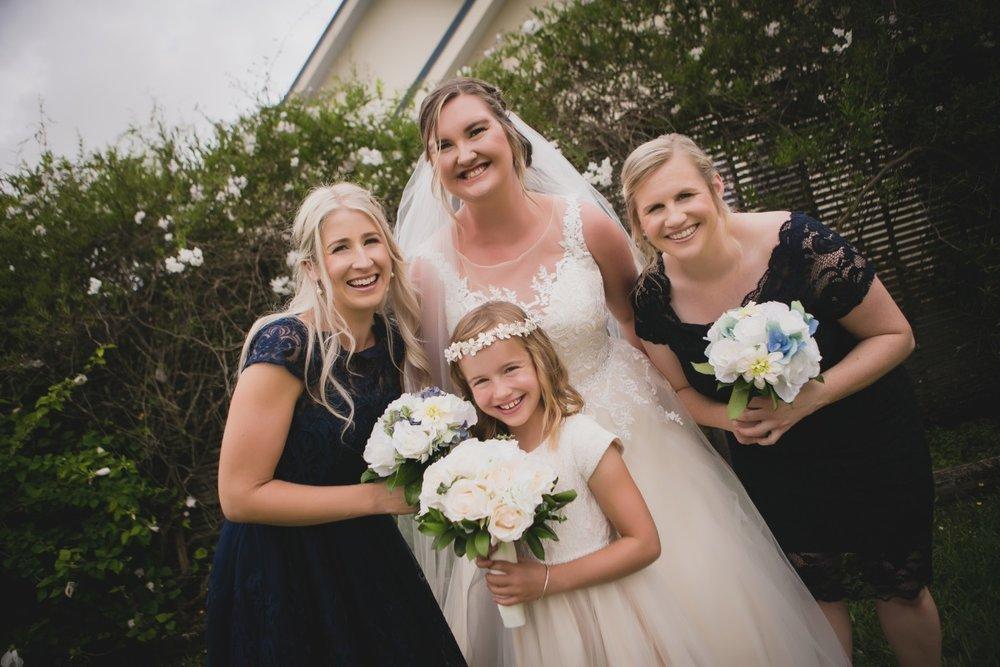 Flower Girl | Navy Lace Bridesmaid Dresses | Illusion Lace Wedding Dress | Bonny Bridal - 630 | Astra Bridal | Puketona Farms, Puketona, Bay of Islands| GDR Photography