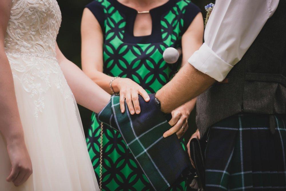 Tartan Wedding Scarf | Scottish Tradition | Bonny Bridal - 630 | Astra Bridal | Puketona Farms, Puketona, Bay of Islands| GDR Photography