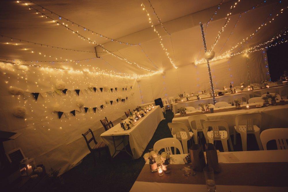 Wedding Reception Tent | Fairy Lights | Bonny Bridal - 630 | Astra Bridal | Puketona Farms, Puketona, Bay of Islands| GDR Photography