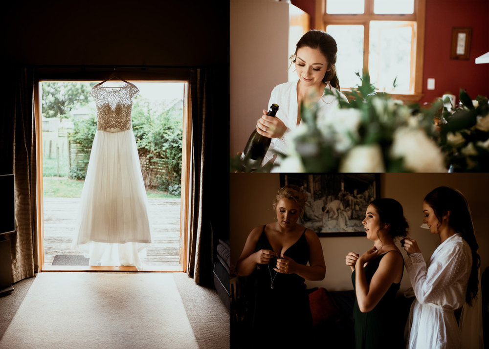 Bridal Prep | Rustic Country Wedding | Maggie Sottero | Astra Bridal | David Le Photography