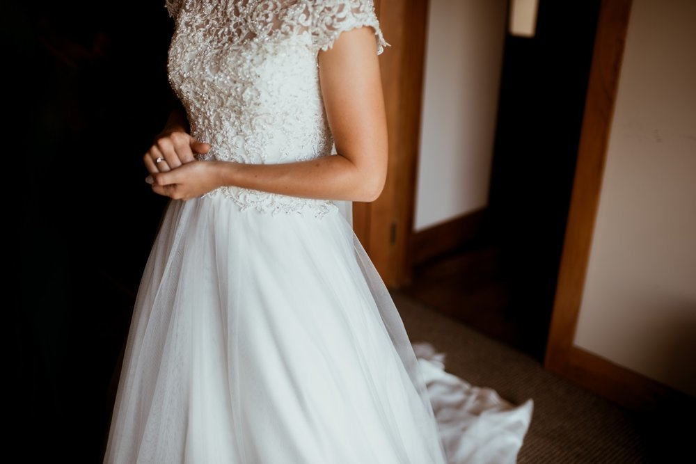 Lace Bodice Wedding Dress | Rustic Country Wedding | Maggie Sottero | Astra Bridal | David Le Photography