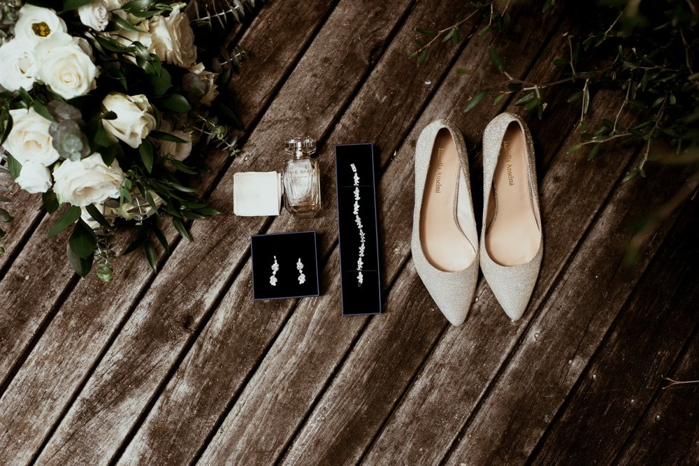 Bridal Jewellery & shoes | Rustic Country Wedding | Maggie Sottero | Astra Bridal | David Le Photography