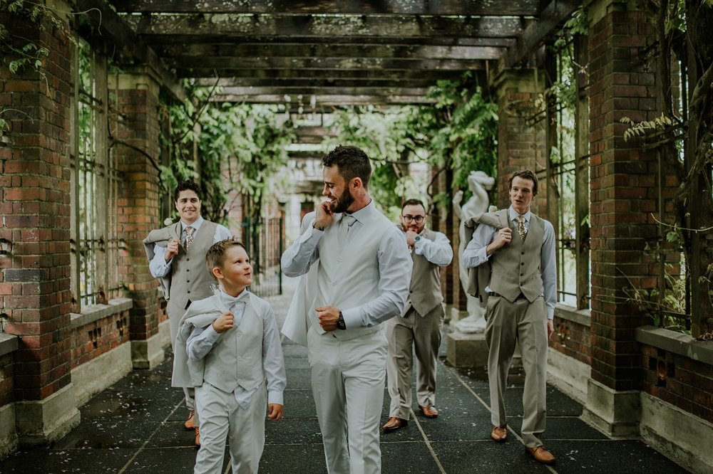 The Groom & his posse | Outlet Bride Marium