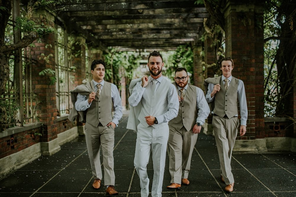 The Groom & his boys | Outlet Bride Marium