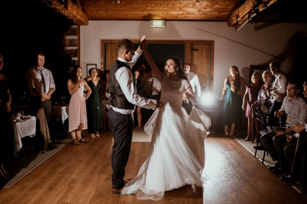 Dancing Bride | Rustic Country Wedding | Maggie Sottero | Astra Bridal | David Le Photography