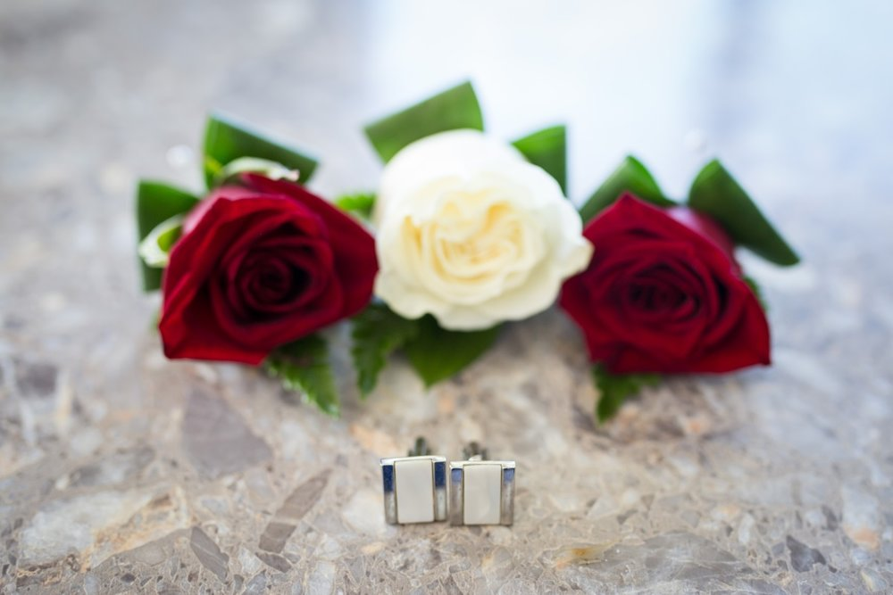 Buttonholes and cufflinks | Astra Bridal | Christina Rossi | Fountain Gardens, Te Puna | Jackie O Photography