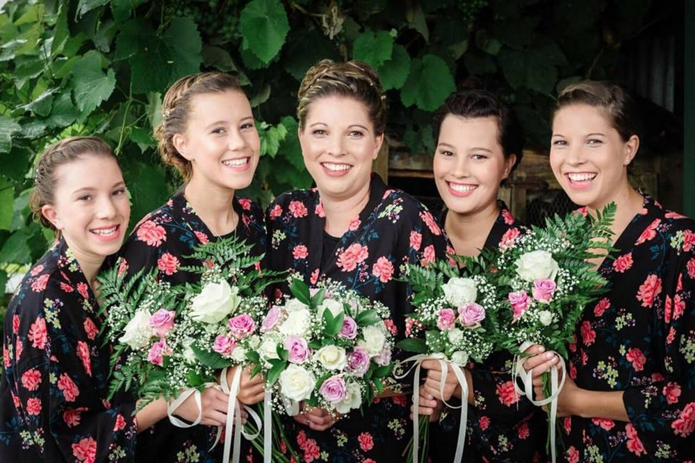 Bridesmaid flowers | Astra Bridal | Maggie Sottero | The Boatshed Café, Karapiro | Jay Drew Photography