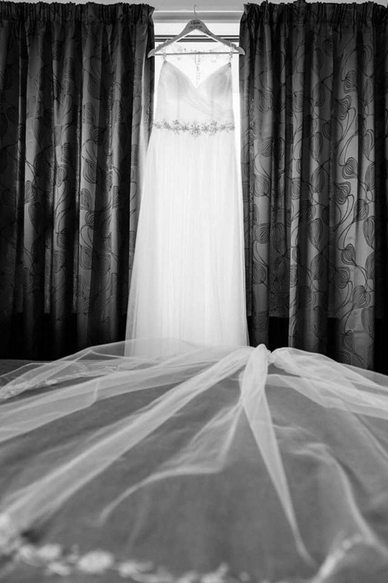 Beaded Wedding Veil | Astra Bridal | Maggie Sottero | The Boatshed Café, Karapiro | Jay Drew Photography
