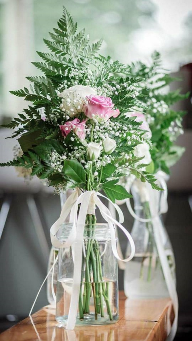 Bridesmaid bouquet | Astra Bridal | Maggie Sottero | The Boatshed Café, Karapiro | Jay Drew Photography