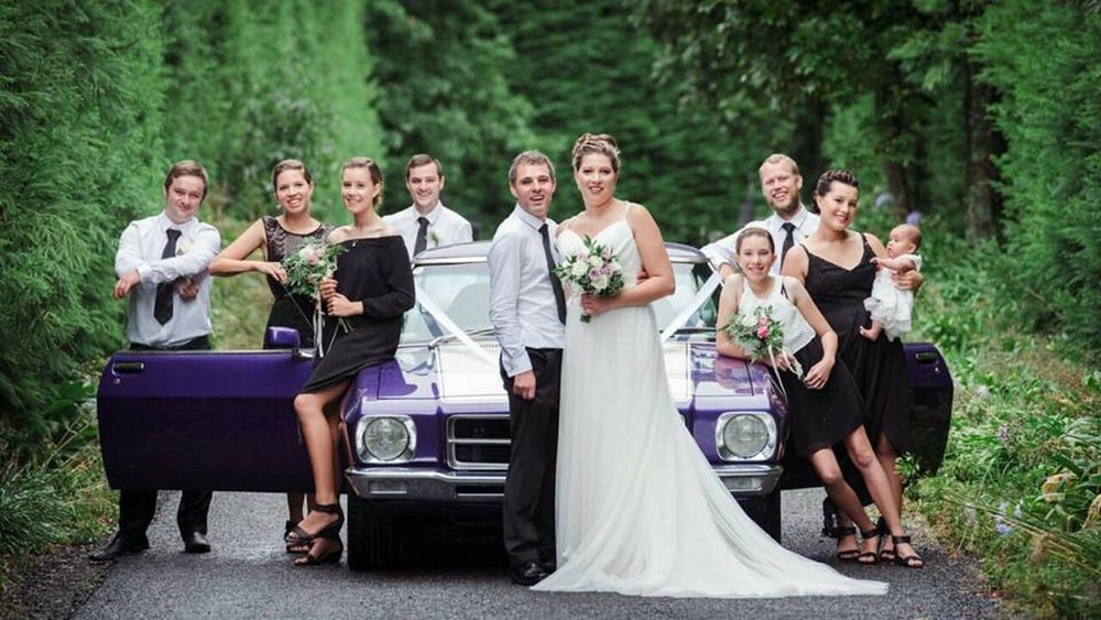 Wedding Car | Astra Bridal | Maggie Sottero | The Boatshed Café, Karapiro | Jay Drew Photography