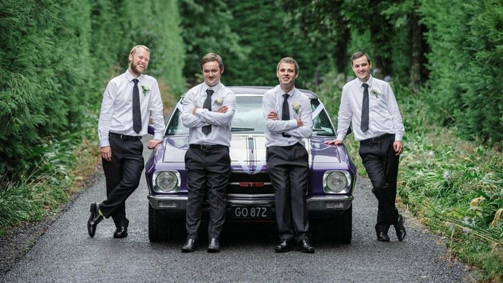 Groomsmen | Astra Bridal | Maggie Sottero | The Boatshed Café, Karapiro | Jay Drew Photography
