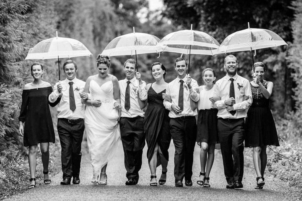 Umbrella Wedding | Astra Bridal | Maggie Sottero | The Boatshed Café, Karapiro | Jay Drew Photography