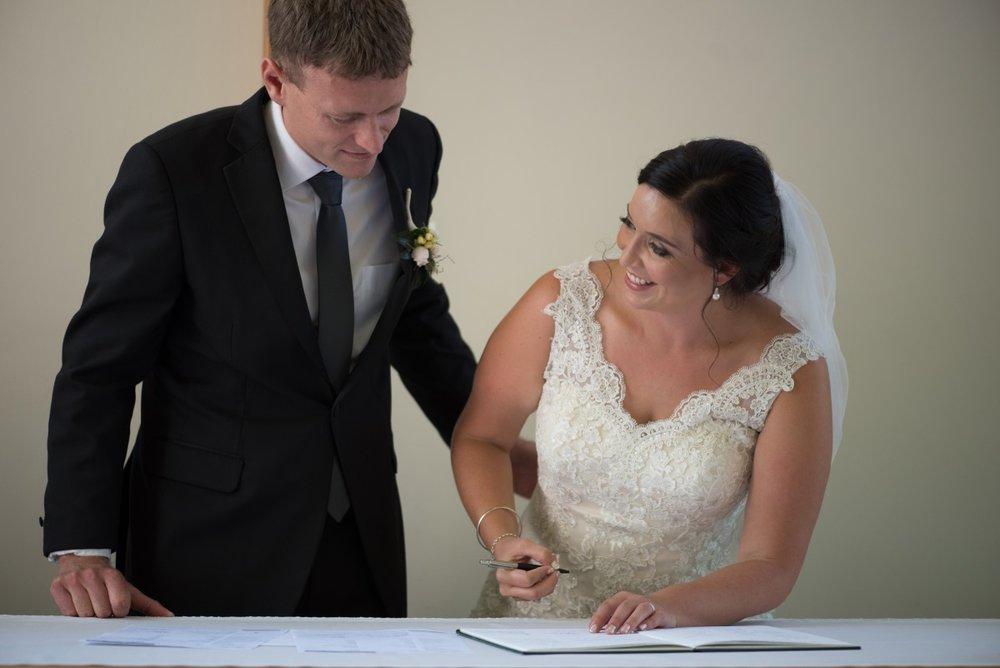 Lace V-Neck Wedding Dress | Astra Bridal | Christina Rossi | Black Barn Winery | Shar Hays Photography