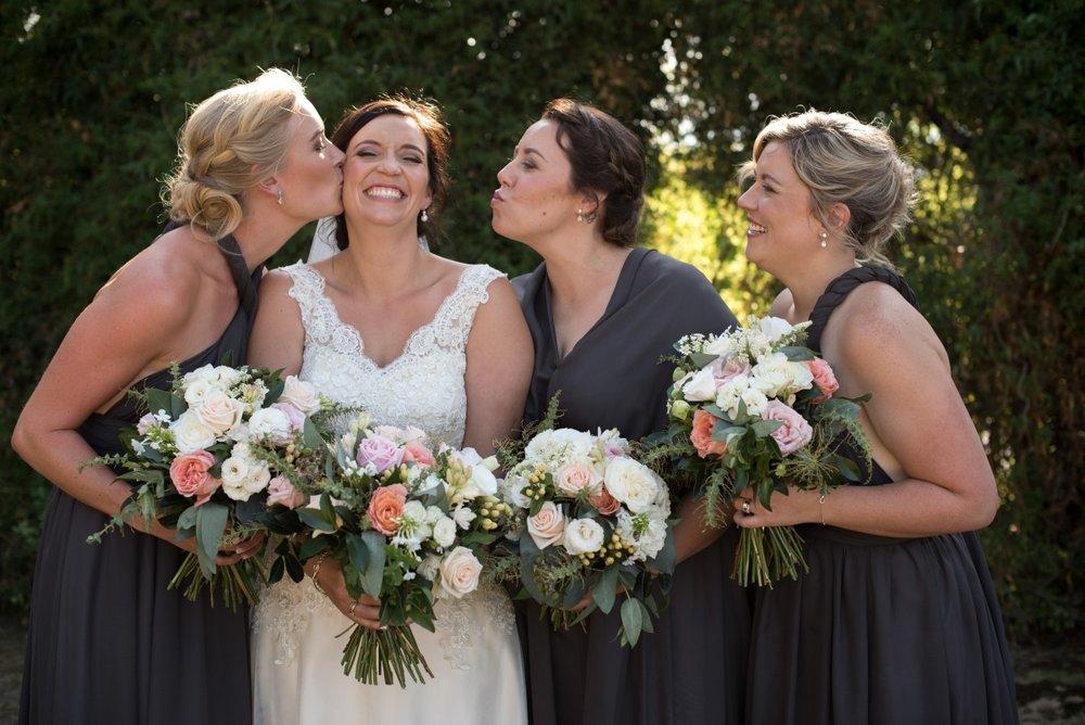 Grey Bridesmaid Dresses | Astra Bridal | Christina Rossi | Black Barn Winery | Shar Hays Photography