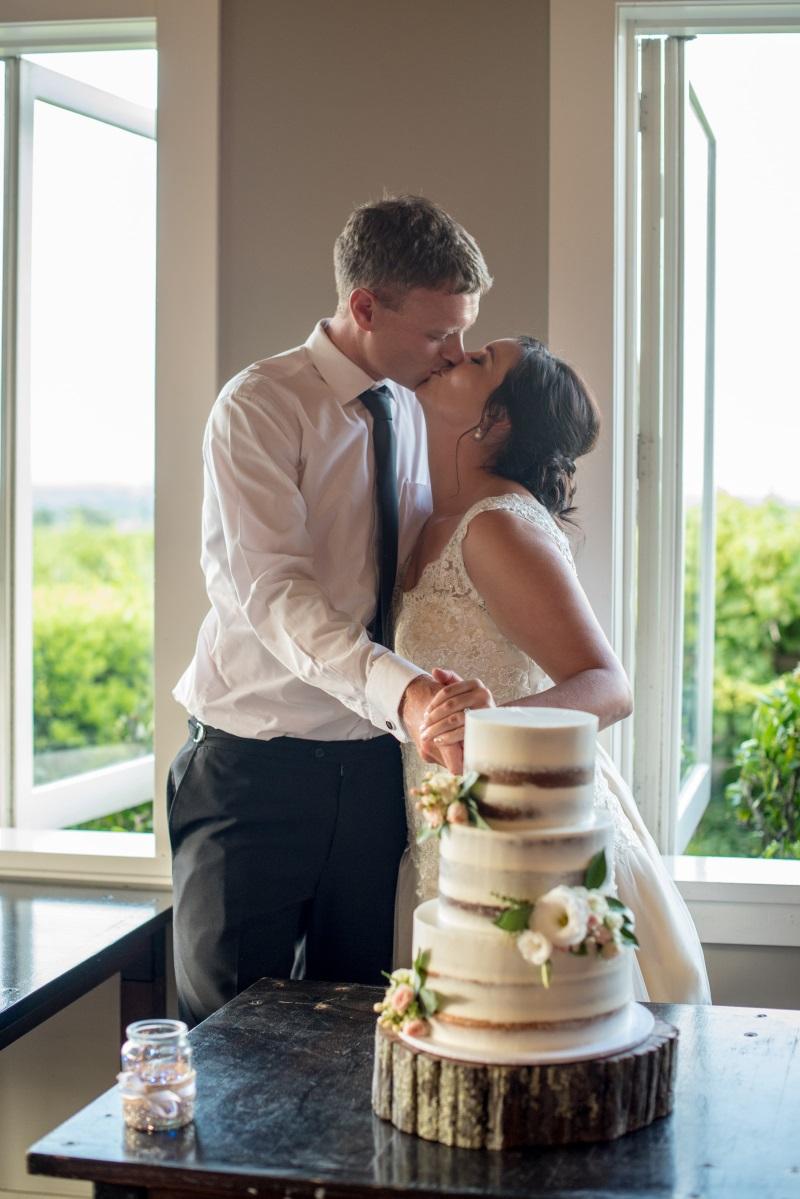 Wedding Cake cutting | Astra Bridal | Christina Rossi | Black Barn Winery | Shar Hays Photography