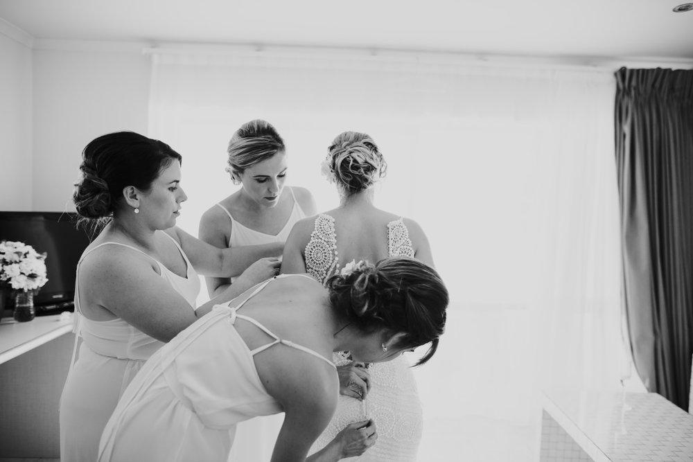Bride Prep | Astra Bridal | Sottery & Midgley | Muri Beach Club Hotel | Alex King Photography
