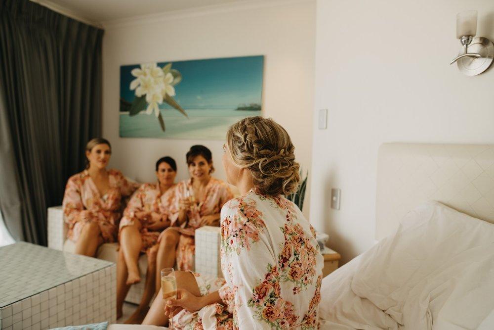 Bridesmaid Floral Robes | Astra Bridal | Sottery & Midgley | Muri Beach Club Hotel | Alex King Photography