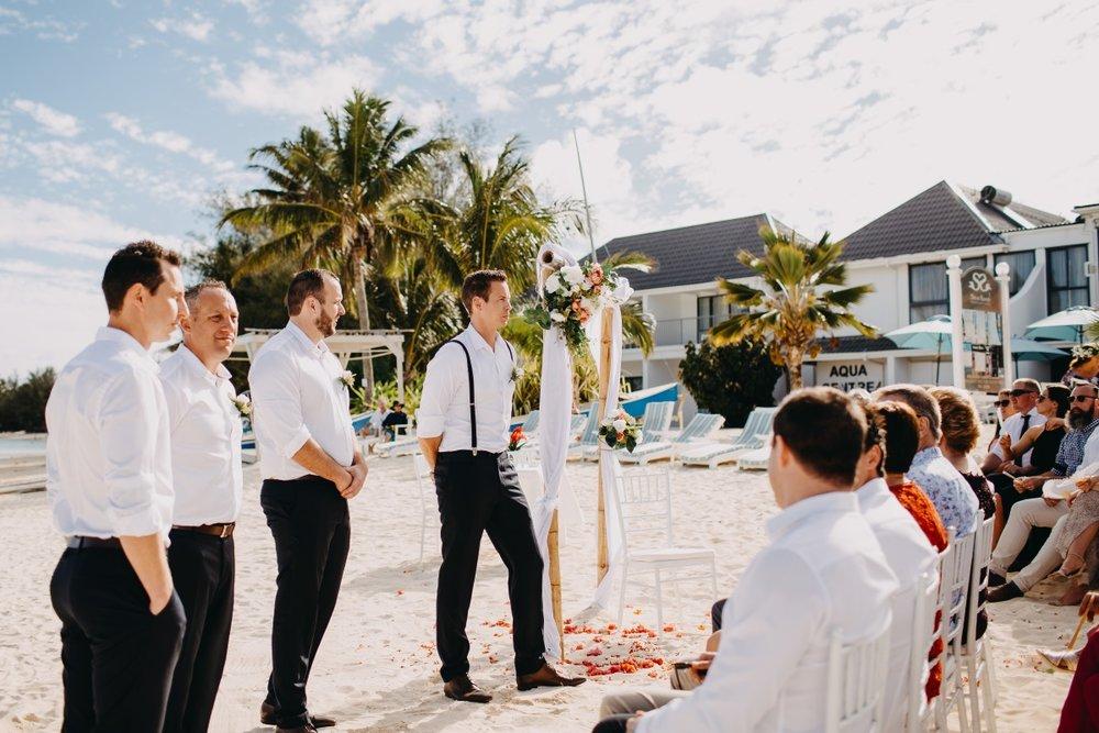 Beach Wedding | Astra Bridal | Sottery & Midgley | Muri Beach Club Hotel | Alex King Photography