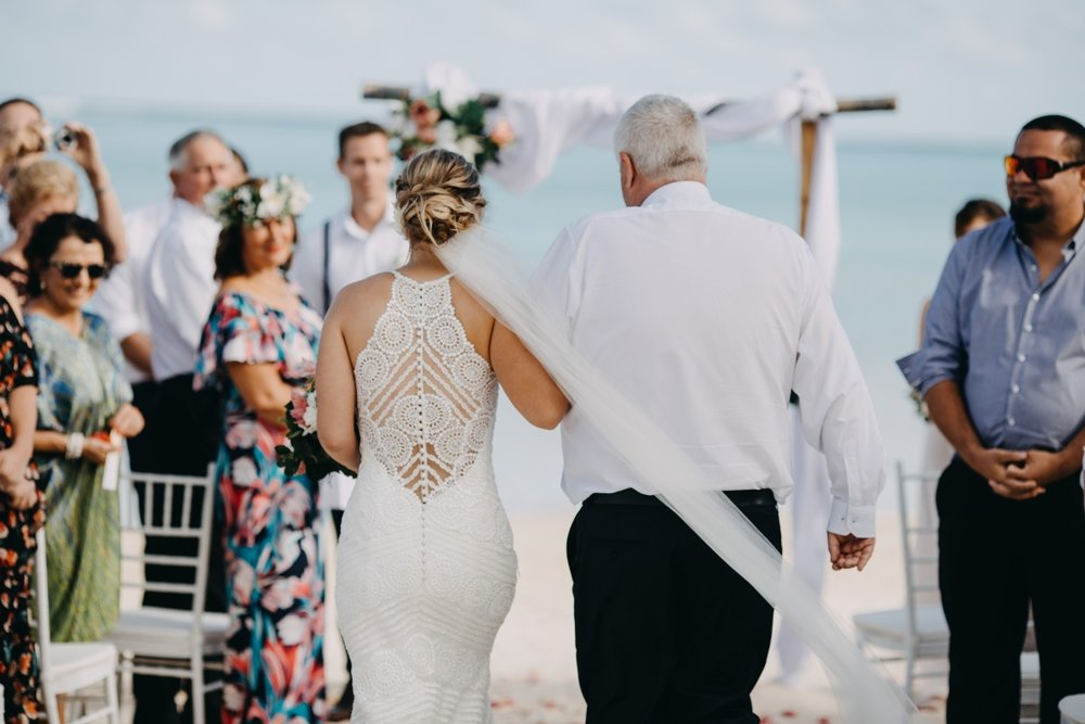 Lace Back wedding gown | Astra Bridal | Sottery & Midgley | Muri Beach Club Hotel | Alex King Photography
