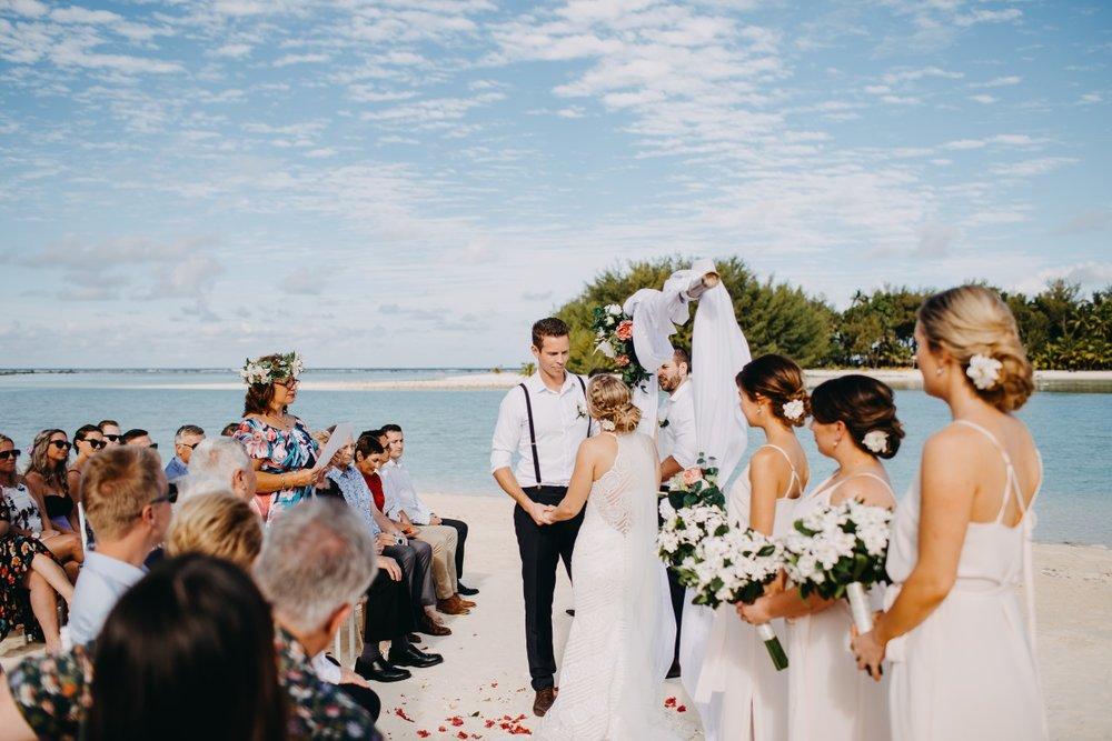 Beach Wedding Ceremony | Astra Bridal | Sottery & Midgley | Muri Beach Club Hotel | Alex King Photography