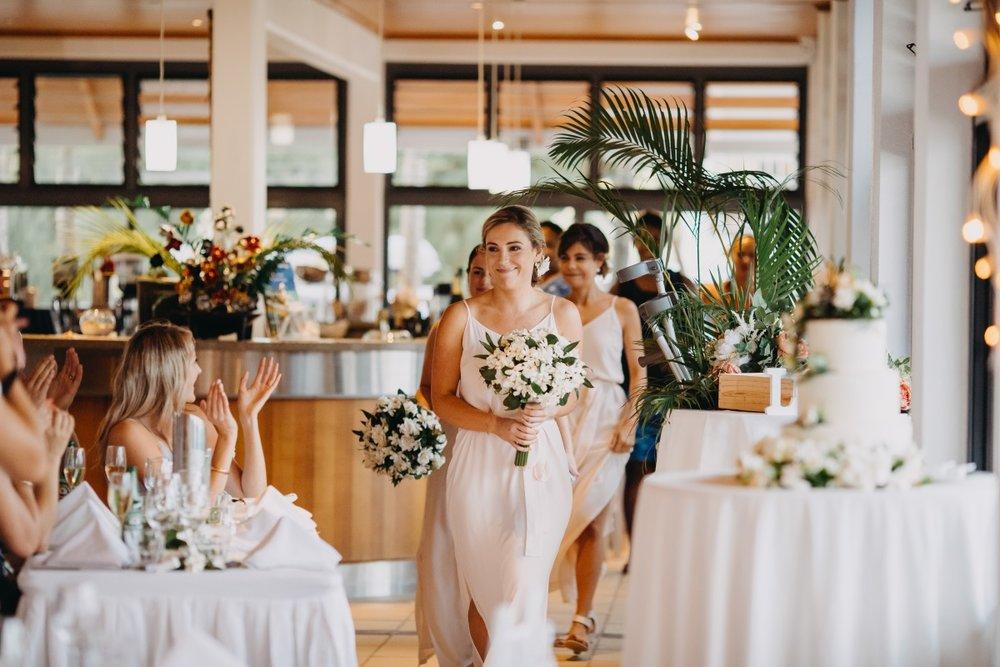 Rarotongan Wedding Reception | Astra Bridal | Sottery & Midgley | Muri Beach Club Hotel | Alex King Photography