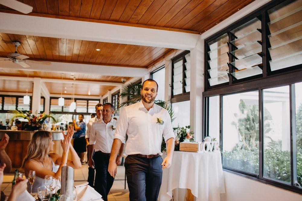 Island Wedding Reception | Astra Bridal | Sottery & Midgley | Muri Beach Club Hotel | Alex King Photography