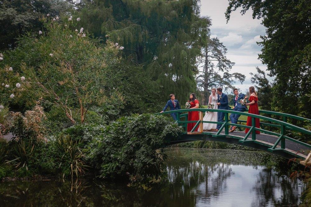 Bridal Party on Bridge | Astra Bride Jessica