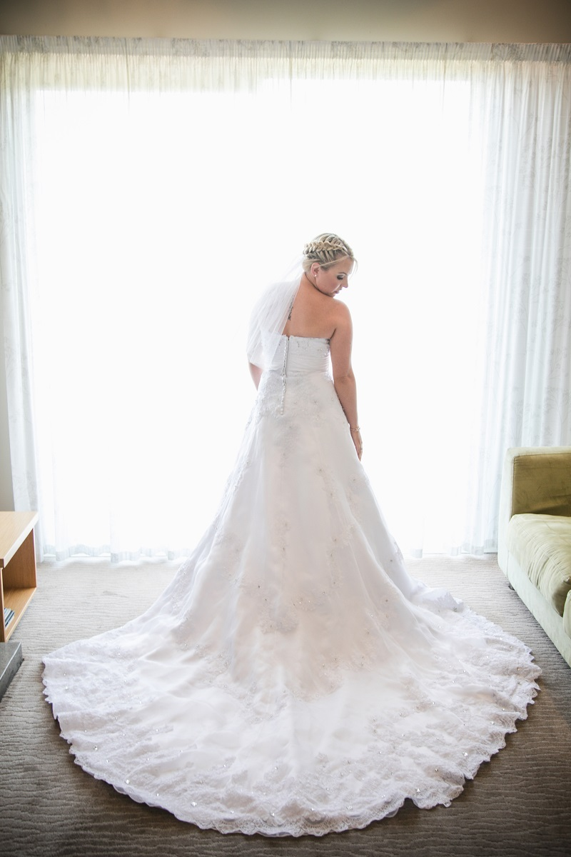 Mary's Bridal 6311 - is the gorgeous wedding dress that Nicole chose, with help from the team at the Astra Bridal Wellington salon, for her Big Day.