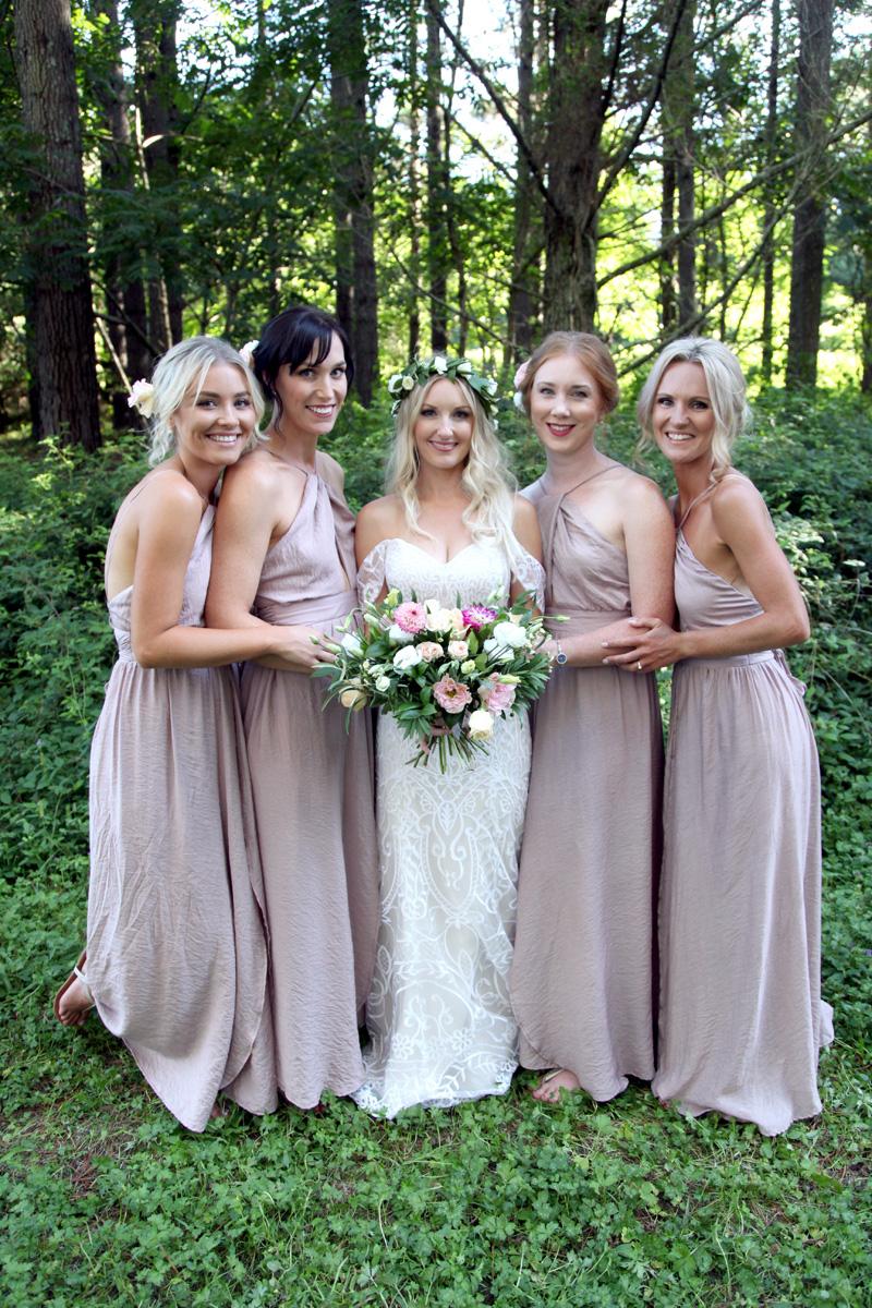 Bridemaids | Woodland Wedding | Astra Bridal | Maggie Sottero | Alisha Taylor Photography