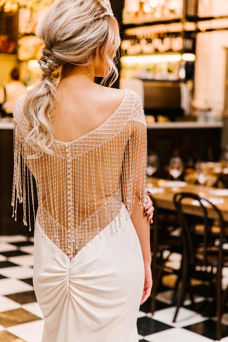 Low Back Beaded Wedding Dress | | Butler Whites Venue | Astra Bridal | Sottero & Midgley – Liam| Jemma King Photography