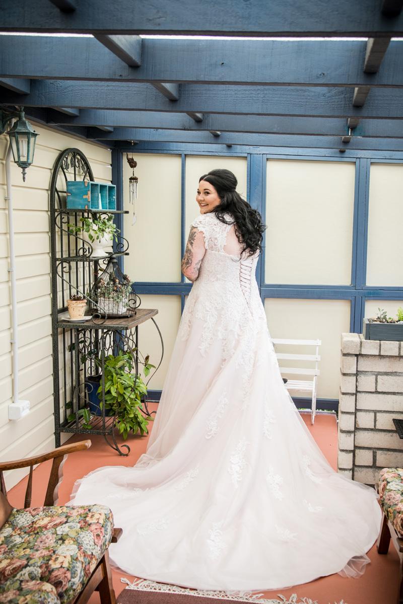 Lace Wedding Gown | Garden Wedding | Astra Bridal | Bonny Bridal | Sandra Henderson Photography