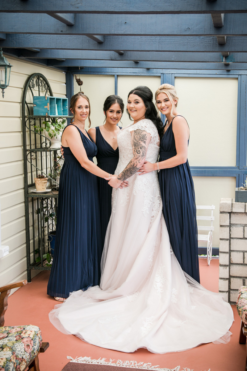 Navy Bridesmaids | Garden Wedding | Astra Bridal | Bonny Bridal | Sandra Henderson Photography
