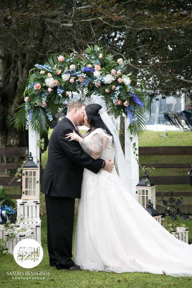 Wedding Arch | Garden Wedding | Astra Bridal | Bonny Bridal | Sandra Henderson Photography