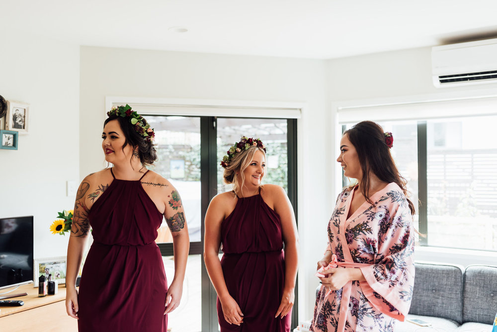 Burgunday Bridesmaids | Garden Wedding | Astra Bridal | Sottero & Midgley – Bexley | Gemma Flay Photography