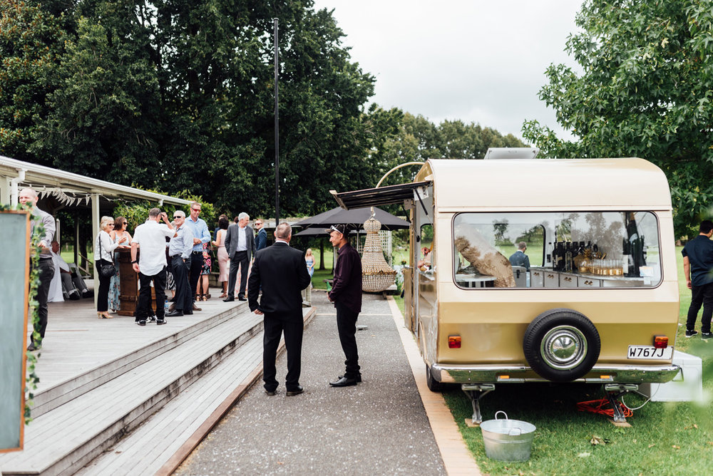 Caravan Bar | Garden Wedding | Astra Bridal | Sottero & Midgley – Bexley | Gemma Flay Photography